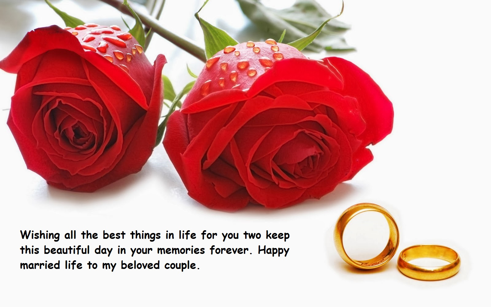 Happy Married Life Greeting Cards Quotes