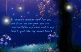Romantic Good Night Wishes For Girlfriend