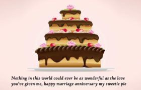 Wedding Anniversary Cake Wishes Pics For Wife.
