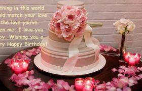 Birthday Cake Wishes Photo With Flowers