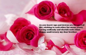 Happy Anniversary Sms For Brother