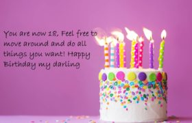 18th Cute Birthday Cake Wishes Images For Her