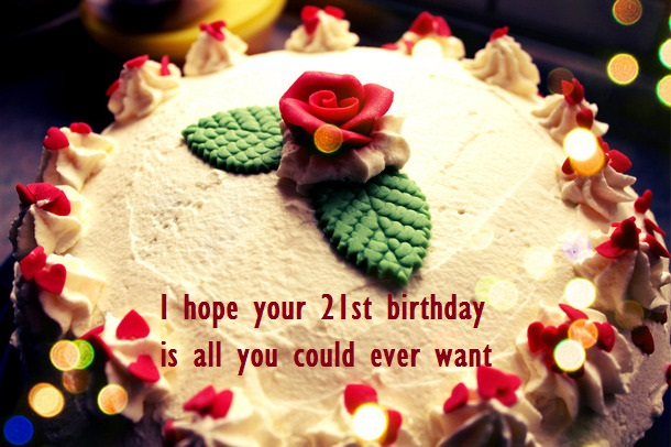 Cute 21st Birthday Cake Images For Her