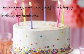 Cute Birthday Cake Wishes For Boyfriend