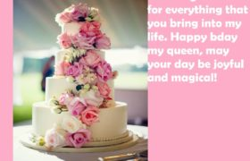 Beautiful Birthday Cake Wishes For Her