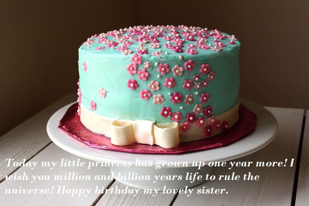 Beautiful Birthday Cake Images Wishes For Sister Best Wishes
