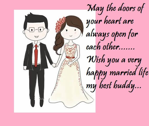 Happy wedding wishes greeting cards for best friend best wishes marriage greeting cards for close friend m4hsunfo