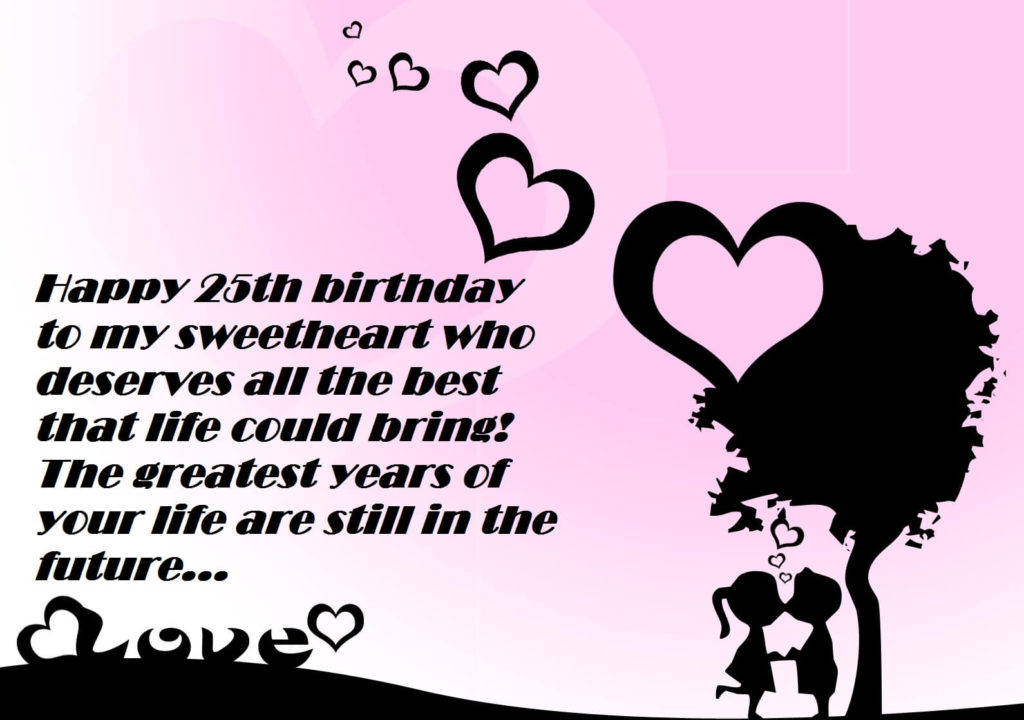 25th Birthday Love Quotes For My Girlfriend