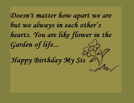 Happy Birthday Quotes Wishes For Sister