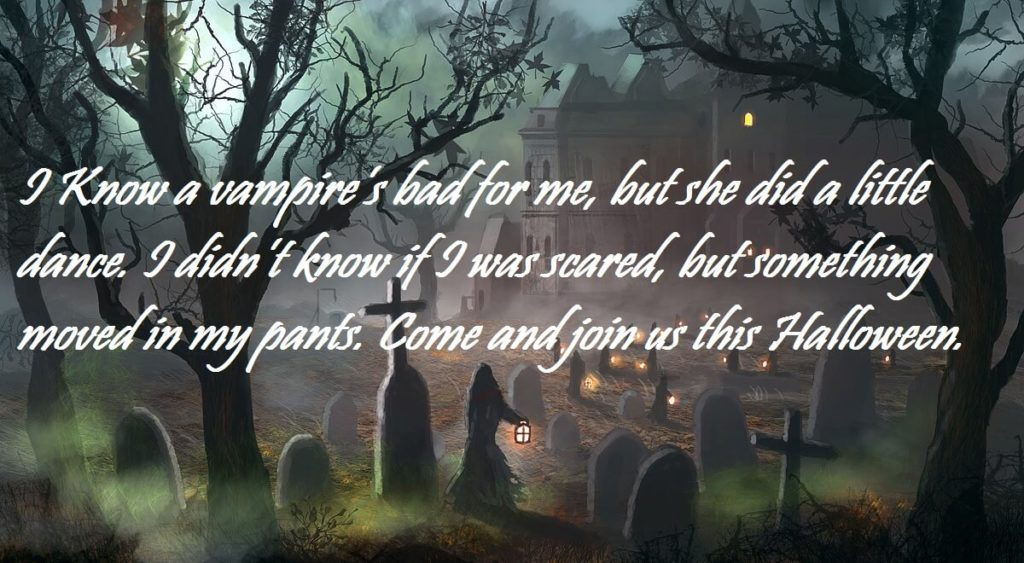 Scary Halloween 2017 Invitation Sayings