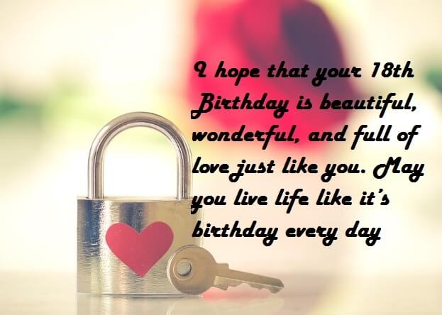 18th Birthday Wishes Quotes For Girlfriend