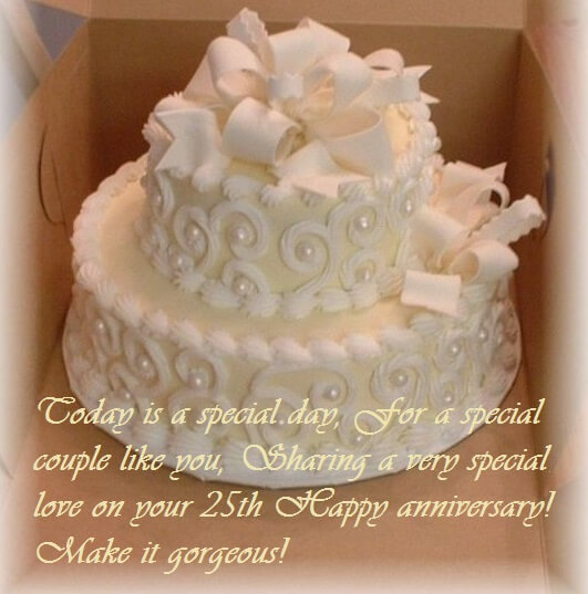 25th Marriage Anniversary Cake Wishes