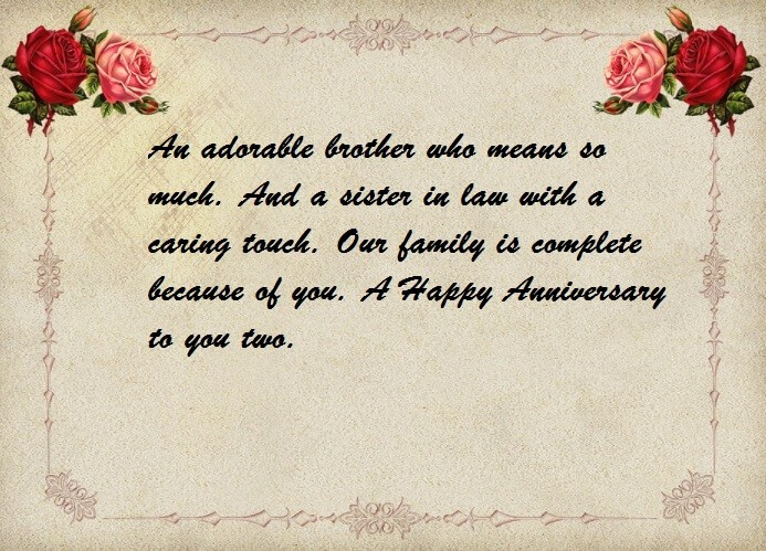 Anniversary Wishes to My Brother