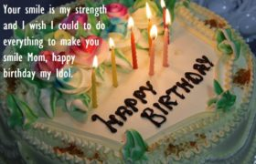 Birthday Cake Quotes Wishes to Mom