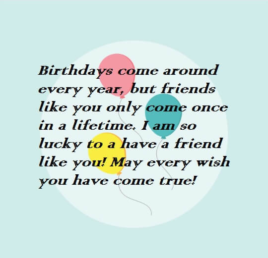 Happy Birthday Wishes For Best Friend