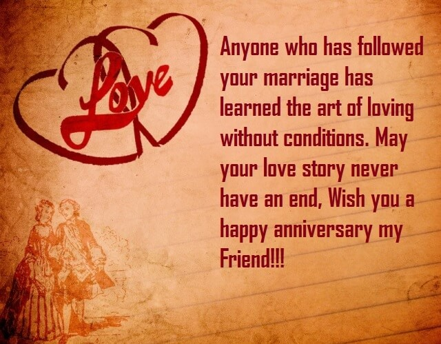 Marriage Anniversary Cards Quotes For Friend