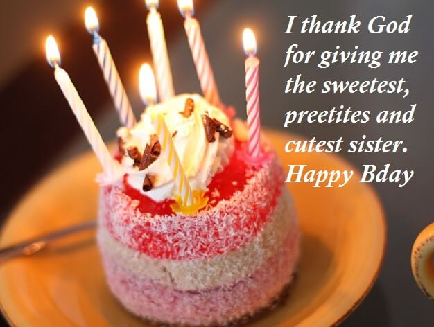 Birthday Cake Images With Quotes to Sister