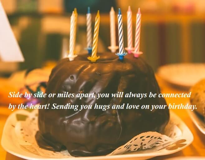 Birthday Chocolate Cake Wishes For Sister
