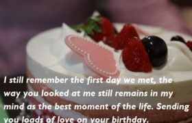 Happy Birthday Cute Cake With Love Quotes