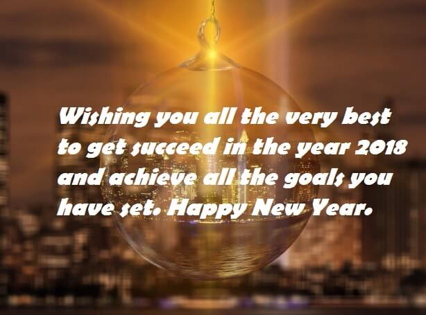 Happy New Year 2018 Advance Wishes