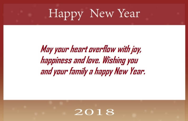 Happy New Year 2018 Wishes Messages