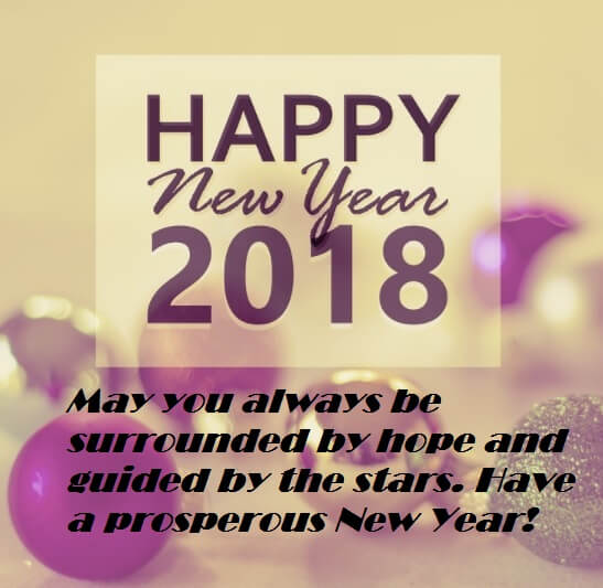 Happy New Year 2018 Wishes Sayings