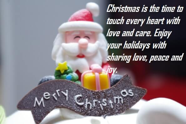 Merry Christmas Cake Quotes For Love