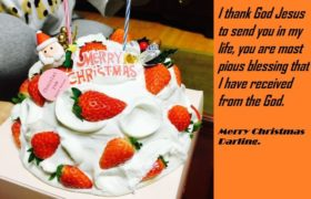 Merry Christmas Cake Quotes Wishes