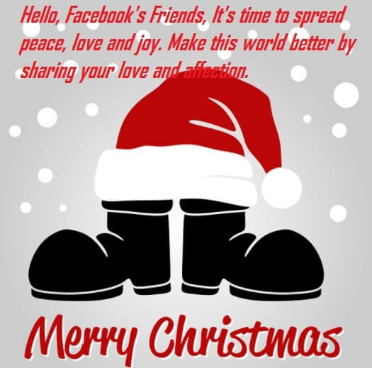 Merry Christmas Facebook Status Wishes