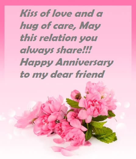 Wedding anniversary wishes quotes to friend best wishes wedding anniversary wishes for friend m4hsunfo