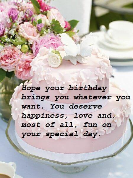 Cute Birthday Cake Wishes Pictures