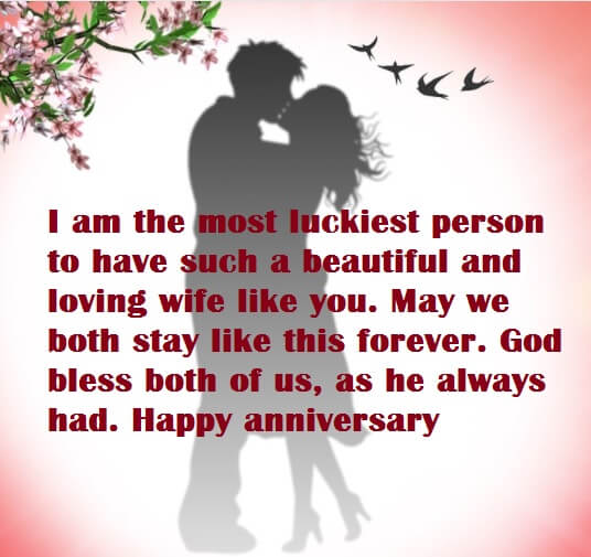 Happy Anniversary Wishes Message to Wife
