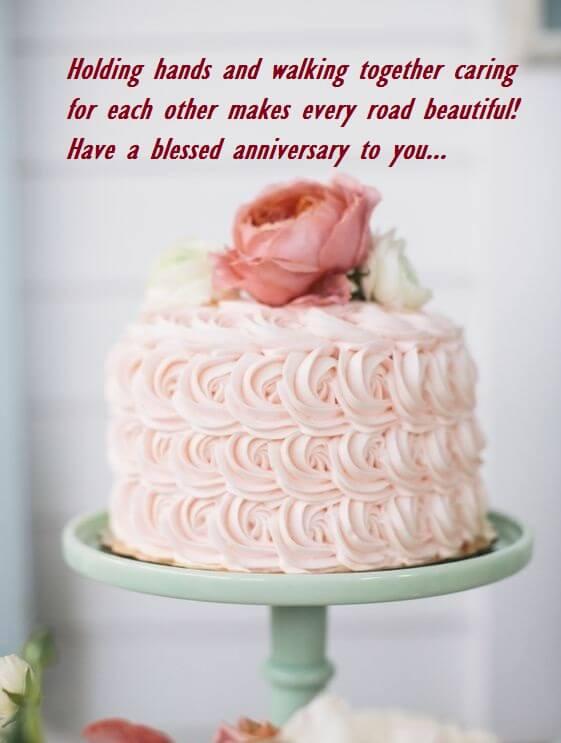 Happy Anniversary Cake Wish Lines