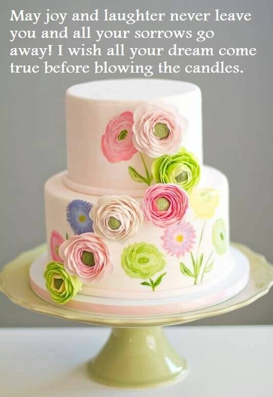 Birthday Beautiful Cake Wishes Images