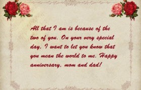 Happy Anniversary Wishes Status For Mom Dad