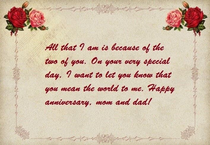 Wedding Anniversary Wishes for Mom and Dad Status | Best Wishes