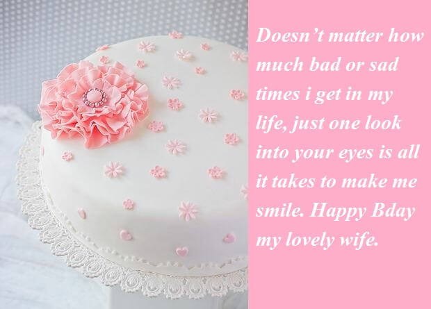 Birthday Wishes For Wife With Cake Images