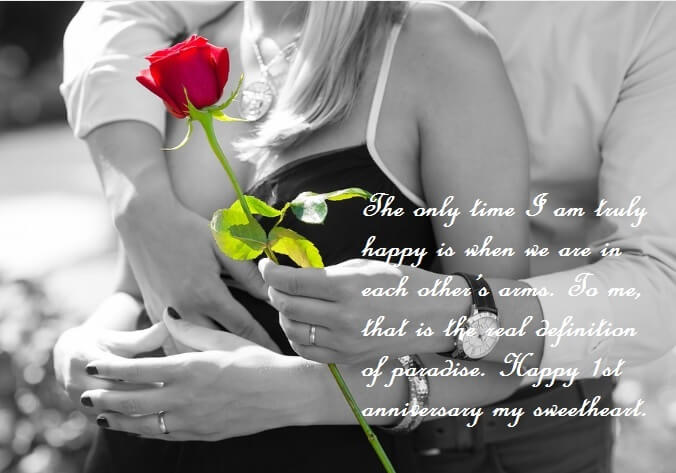1st marriage anniversary wishes quotes to wife