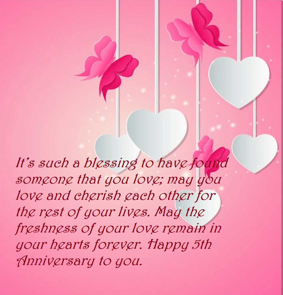 5th Marriage Anniversary Quotes Wishes Images | Best Wishes