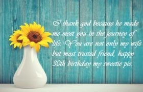 30th Birthday Wishes For Wife
