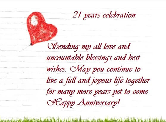 Happy 21st Marriage Anniversary Wishes