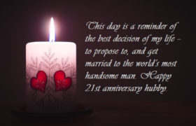 Happy 21st Wedding Anniversary Wishes For Husband