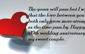 20th Marriage Anniversary Wishes Images