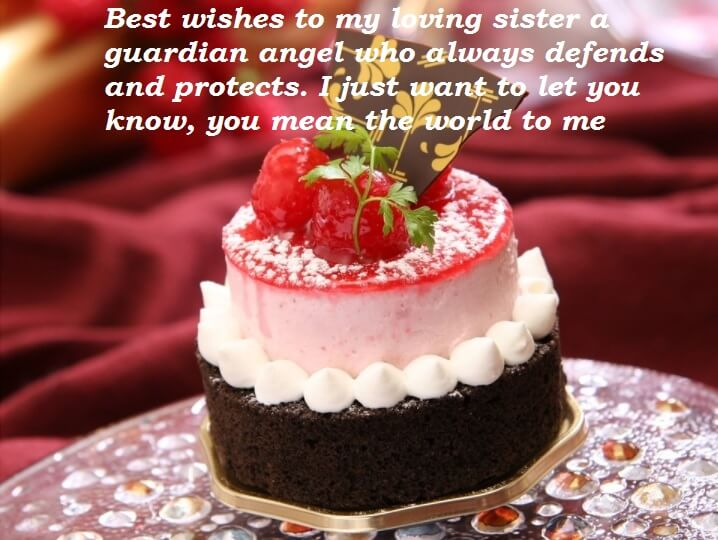 Cute Birthday Cake Wishes For Sister