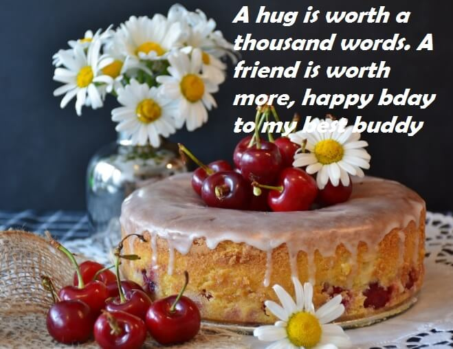 Remarkable Birthday Wishes For Friends Cake With Quotes Best Wishes Funny Birthday Cards Online Elaedamsfinfo