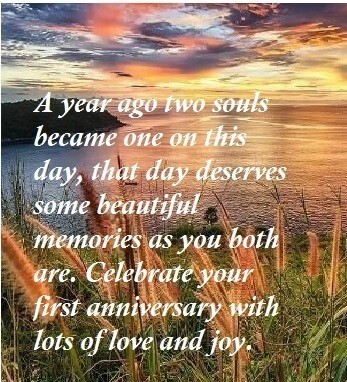 First Anniversary Wishes Sayings