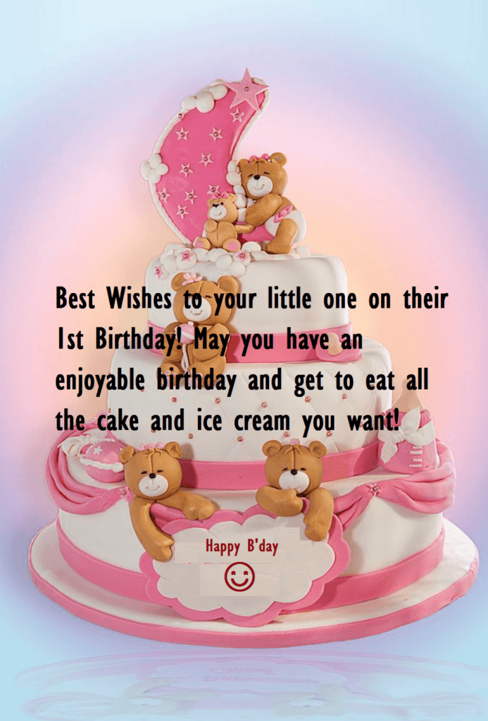 Marvelous Cute Birthday Cake Wishes For Baby One Year Old Best Wishes Funny Birthday Cards Online Elaedamsfinfo