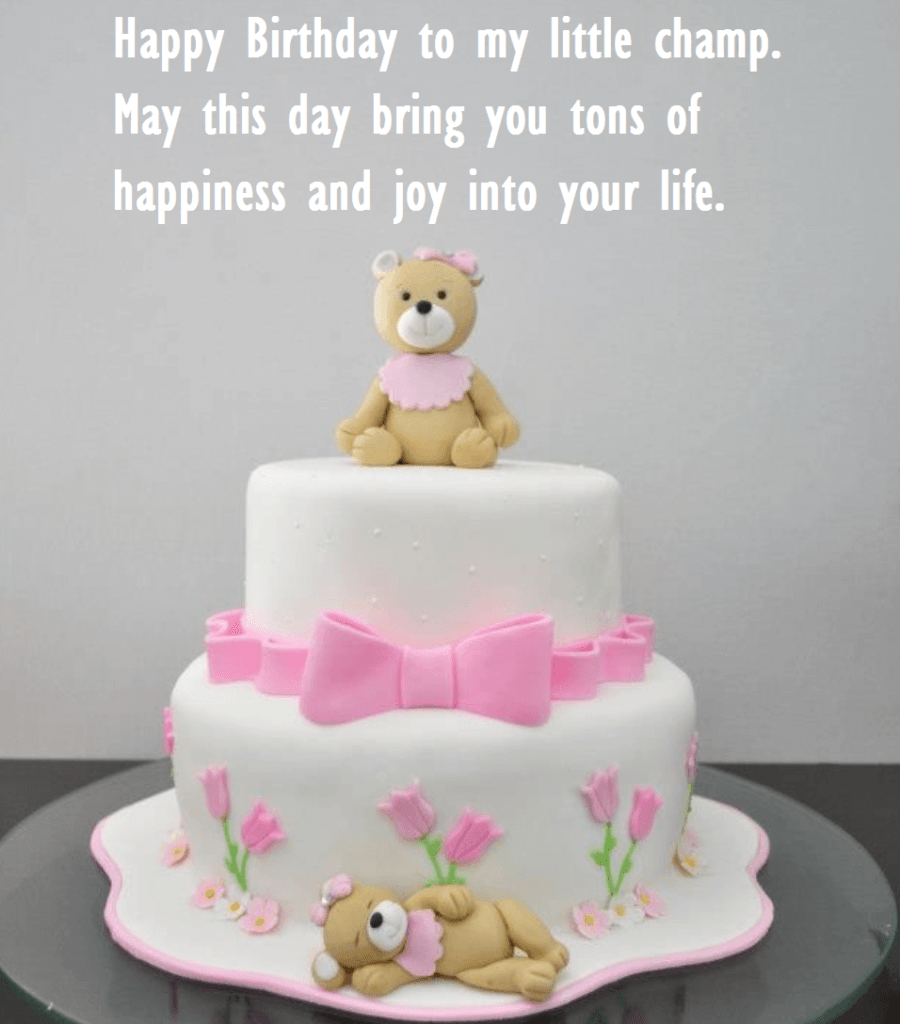 Admirable Cute Birthday Cake Wishes For Baby One Year Old Best Wishes Personalised Birthday Cards Veneteletsinfo