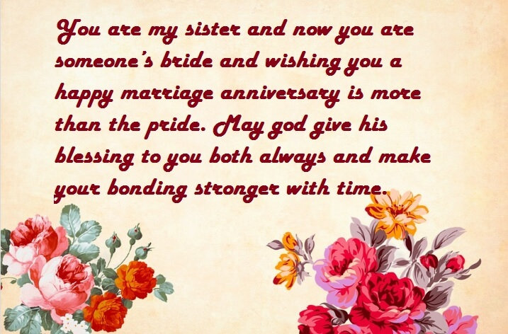 Happy 5th Marriage Anniversary Wishes Images For Sister Best Wishes