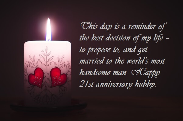 Hy 21st Wedding Anniversary Wishes For Husband